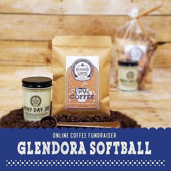 Glendora Softball - Coffee & Candle 3oz Gift Set
