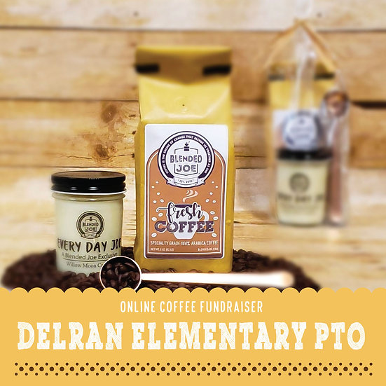 Delran Elementary - Coffee & Candle 12oz Gift Set