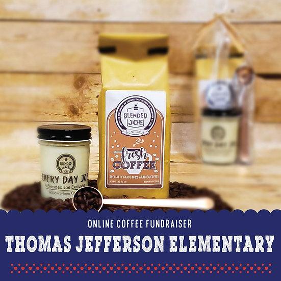TJ Elementary - Coffee & Candle 12oz Gift Set