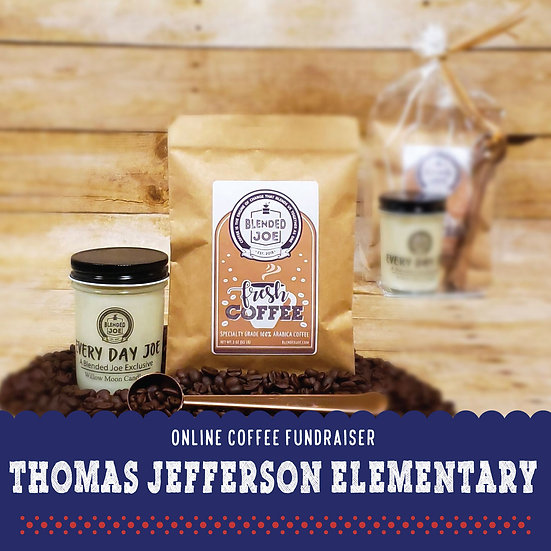 TJ Elementary - Coffee & Candle 3oz Gift Set