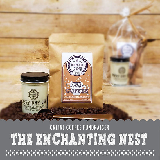 Enchanting Nest - Coffee & Candle 3oz Gift Set
