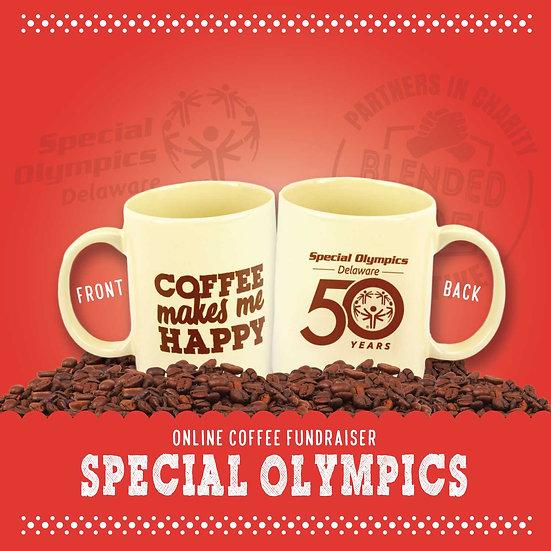 Special Olympics Coffee Makes Me Happy Mug