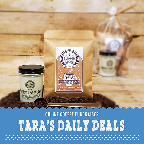 Tara's Daily Deals - Coffee & Candle 3oz Gift Set