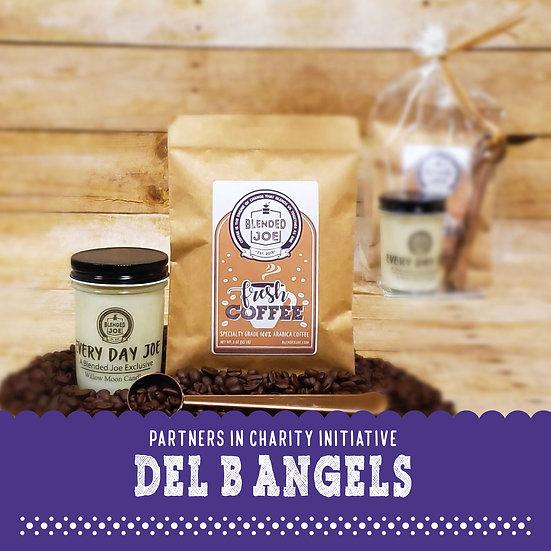 Del B Angels - Coffee & Candle 3oz Gift Set