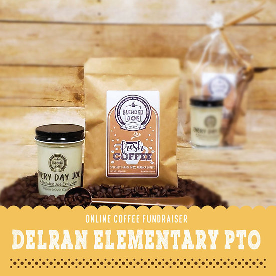Delran Elementary - Coffee & Candle 3oz Gift Set