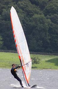 Windsurfing on Coniston Water