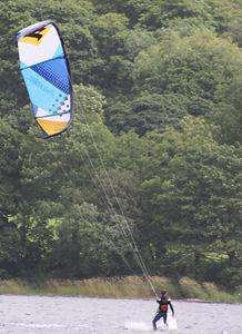 Kite-surfind on Coniston Water