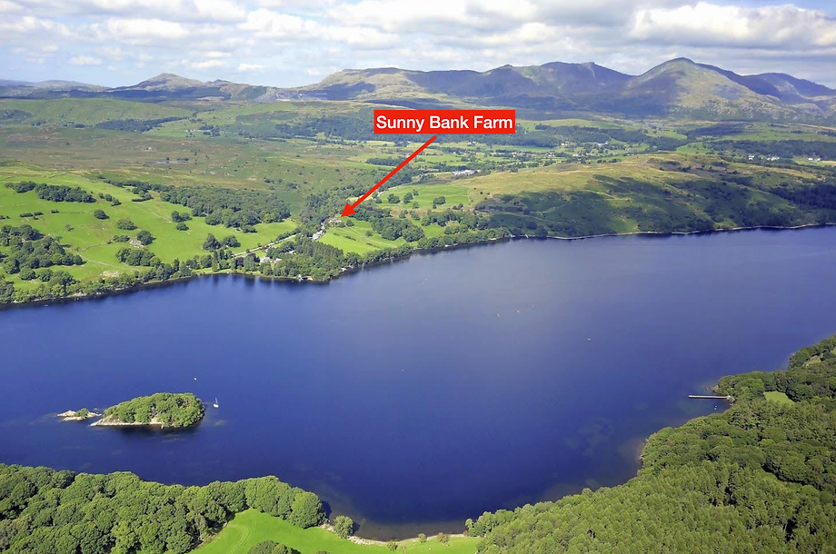 Aerial view of Sunny Bank Farm