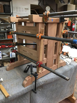 Clamping a wood table