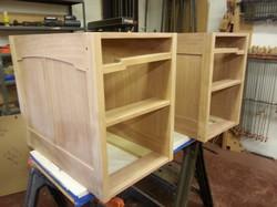 Desk unit getting prepped for paint