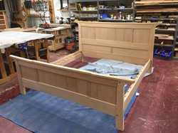 Custom built bed by Stix's Woodworks