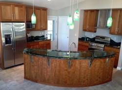 Cherry kitchen cabinet set
