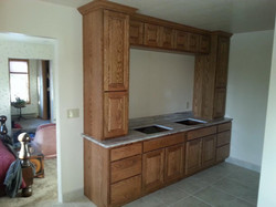 Custom Stix's Woodwork shelving unit