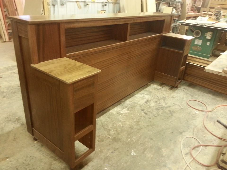 Large bed headboard unit