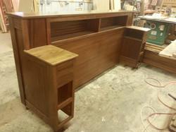 Large bed headboard unit