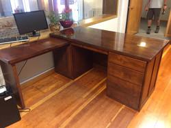 Stained alder wood desk