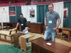 Stix and Rufus at the home show