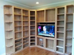 Two wall bookshelf unit