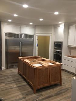 Maple cabinets painted white Kalama