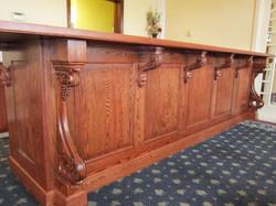 Oak bar build for Frozo's Restaurant