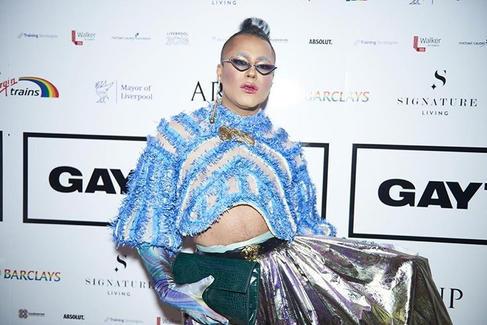 Travis Alabanza at the Gay Times awards
