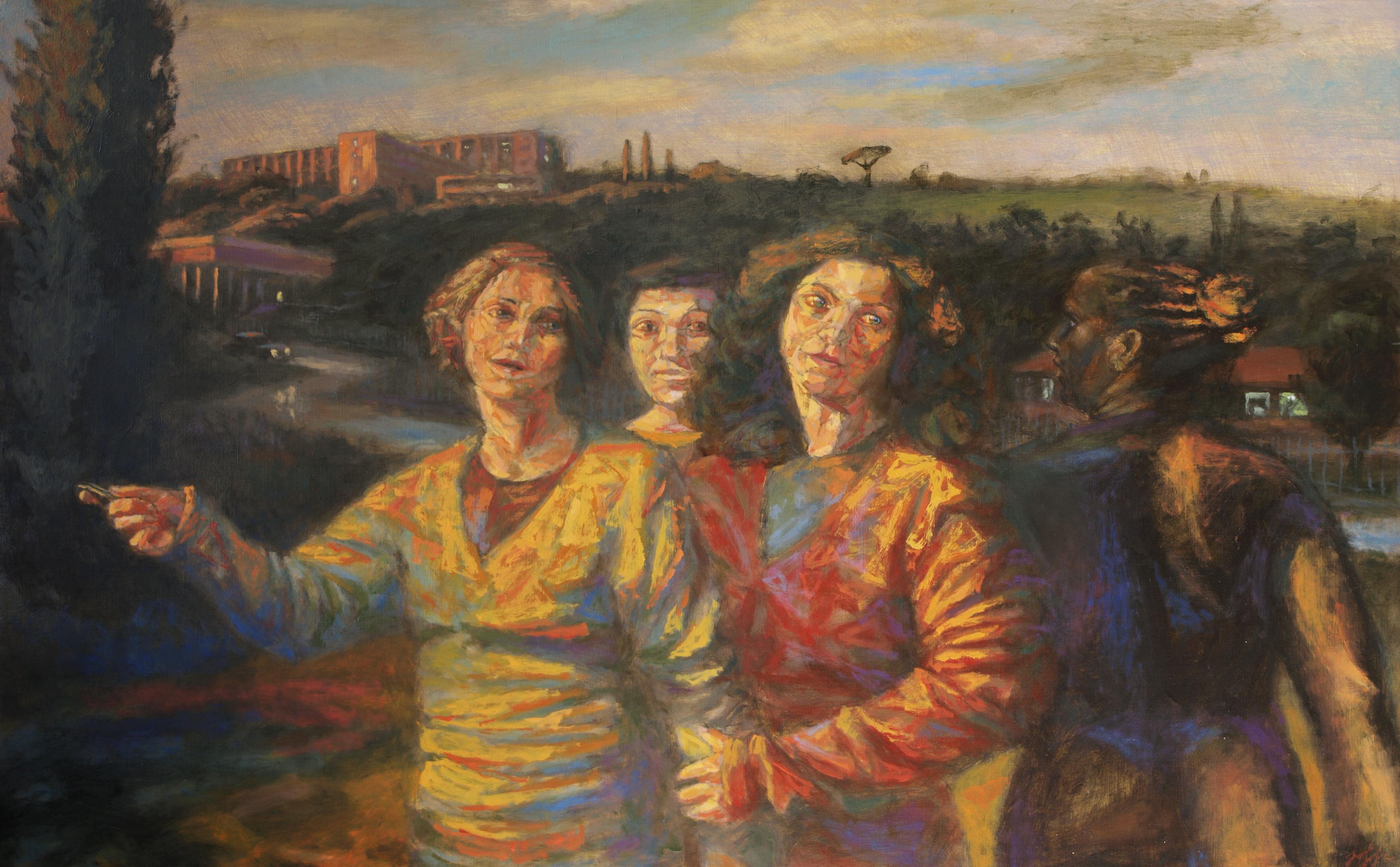 4 femmes, huile sur toile,  65 cm sur 100 cm, 2013.jpg