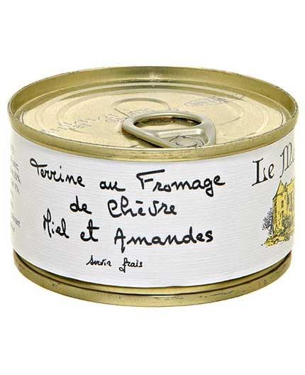 Terrine au fromage chèvre, miel et amandes 130g