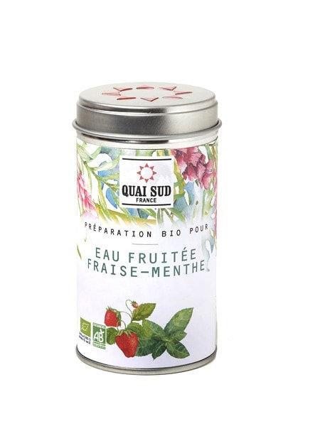 Eau fruitée fraise et menthe
