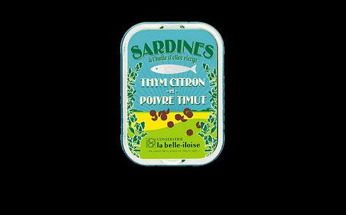 Sardines aux poivre de timut, citron et thym