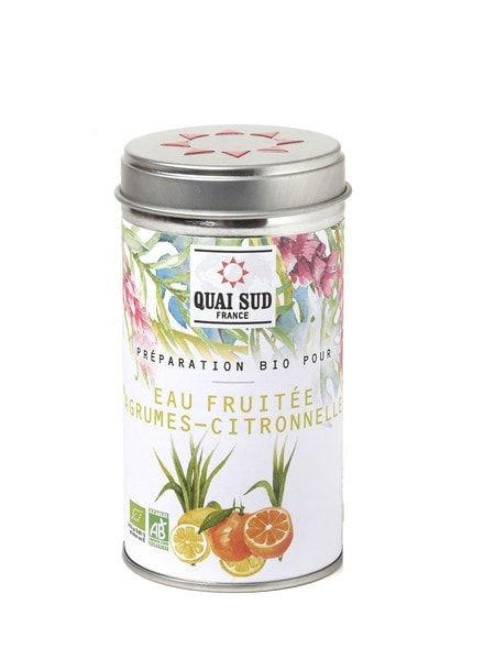 Eau fruitée agrumes et citronnelle