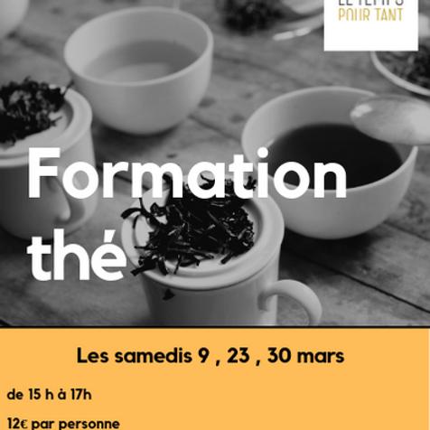 Formation thé 30 mars