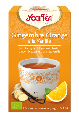 Tisane gingembre, orange et vanille
