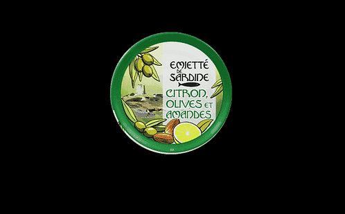 Émietté de sardines citron, olives et amandes