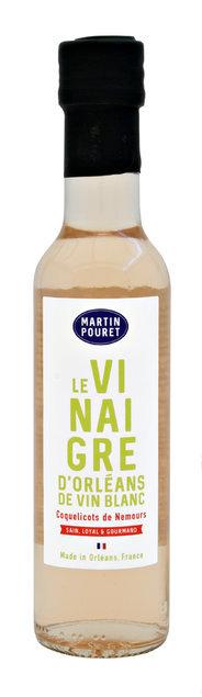 Vinaigre d'Orléans de vin blanc au coquelicot 25cl