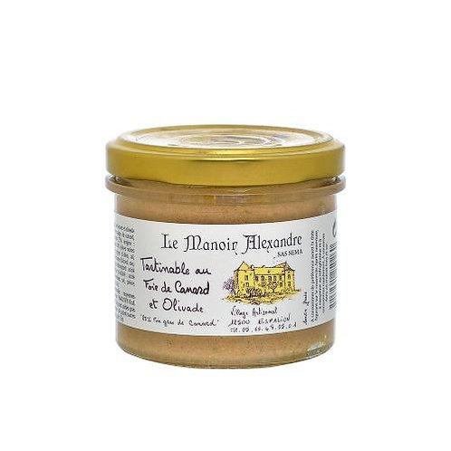 Tartinable au foie de canard et olivade