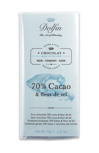Chocolat noir 70% et fleur de sel