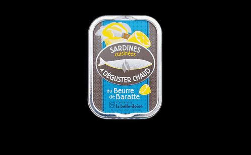 Sardines à cuisiner chaud au beurre de baratte