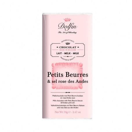 Chocolat au lait aux petits beurres et sel rose des Andes