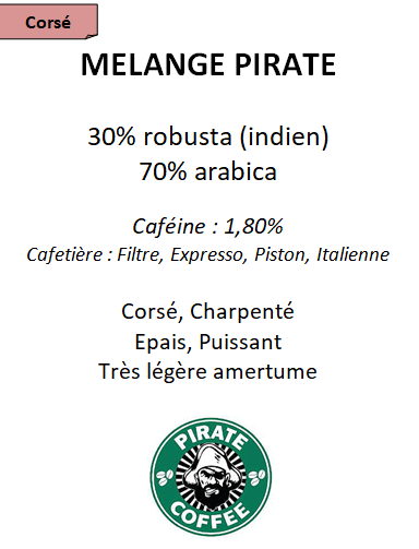 Café mélange Pirate torréfaction française