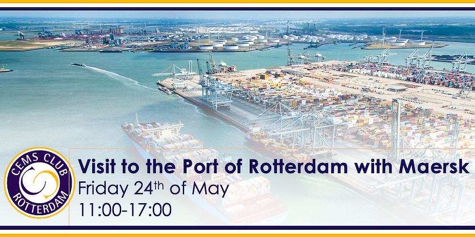 Visit to the Port of Rotterdam with Maersk