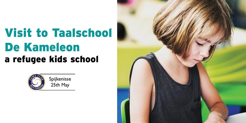 Visit to Taalschool De Kameleon - a refugee kids school
