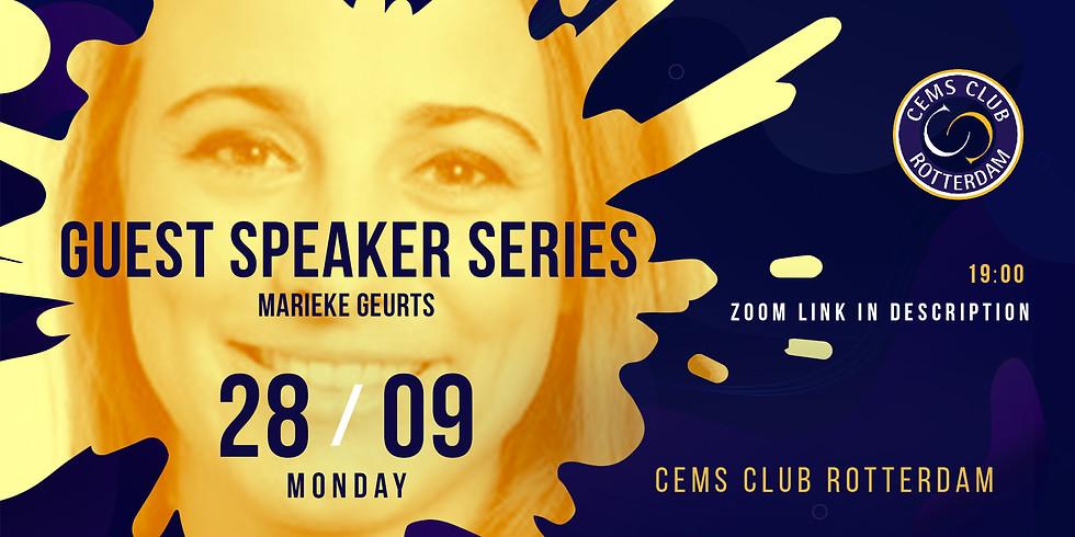 CEMS SPEAKER SERIES with Marieke Geurts