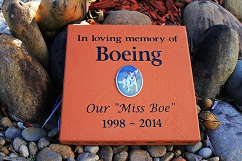 Clay Paver Pet Memorial Plaque