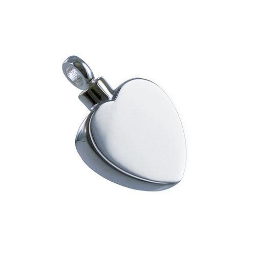 Flat Heart - 925 Silver