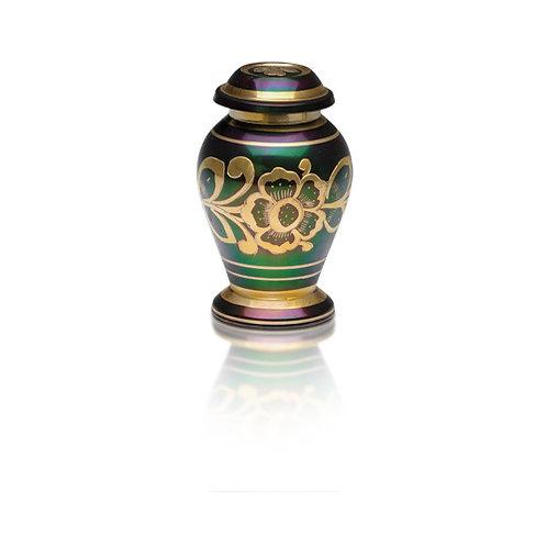 Roman Green and Gold Keepsake Urn