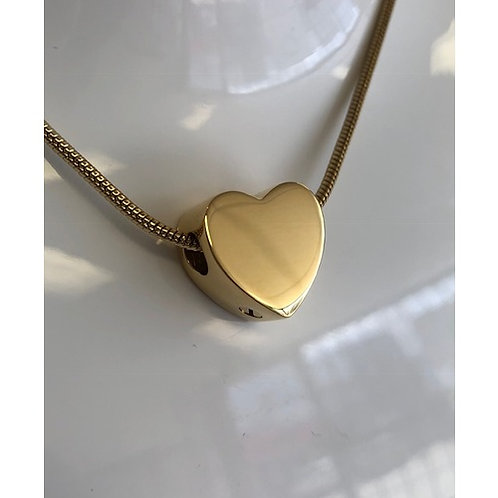 Heart Bead - 14ct Gold Vermeil