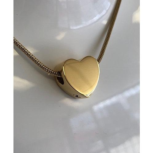 Heart Bead - 14ct Gold Vermeil