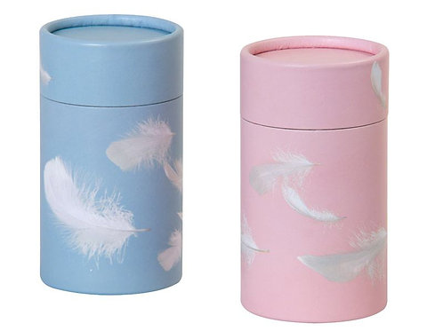 Feather on pink Scatter Tube