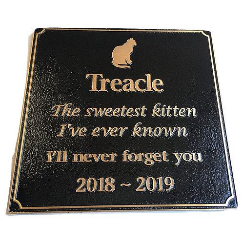 Bronze Plaque Pet Memorial