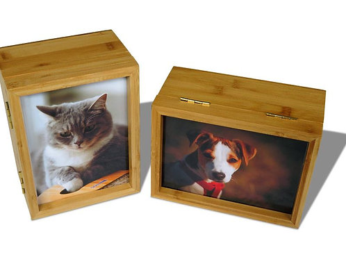 Photo Box Urn - Bamboo